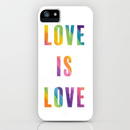 Love is Love with Rainbow Gradient iPhone Case