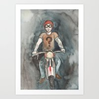 moto Art Prints featuring Moto by Bluedogrose