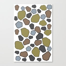 Several abstract terrazo shapes in many colors perfect for garment and accesories Canvas Print