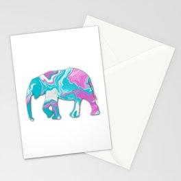 Elephant Fluid Art Stationery Cards