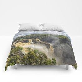 Beautiful wild waterfall Comforters