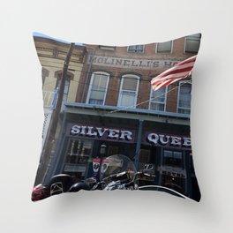 Silver queen Virgina city Nevada Throw Pillow