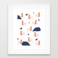 naked Framed Art Prints featuring Naked by .eg.