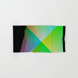 RGB (red gren blue) pixel grid planes crossing at right angles Hand & Bath Towel