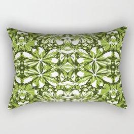 Stylized Nature Print Pattern Rectangular Pillow