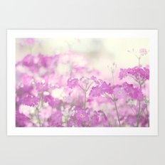 Feeling pink Art Print