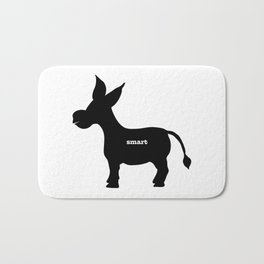 Smart! - Smart Donkey - Funny Art- Silhouette - 57 Montgomery Ave Bath Mat