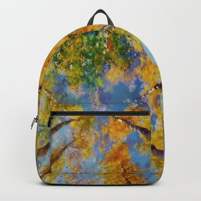Fall trees in the sky Backpack