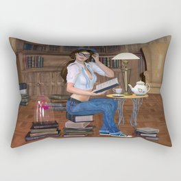 Lost in Literature Rectangular Pillow