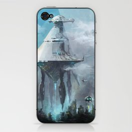 Mother ship extraction iPhone & iPod Skin