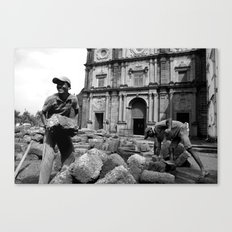 Brickwork (b/w) Canvas Print