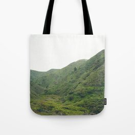 Green Giant | Peaceful Cloudy Nature Landscape Photography of California Hills Tote Bag