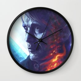 Wounded smoke Wall Clock