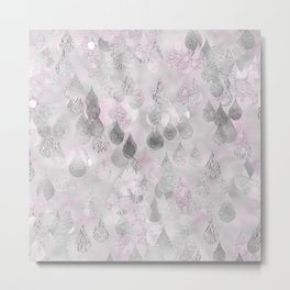 Rainy days-Sparkling autumnal raindrops Metal Print