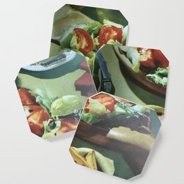 Salad, retro kitchen Coaster