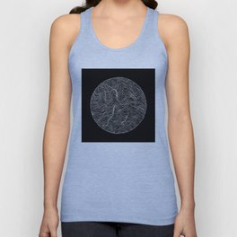 Inverted Waves Unisex Tank Top