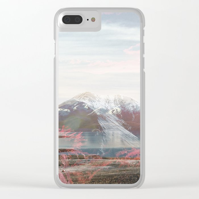 Snow-capped Sunrise Clear iPhone Case