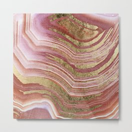 Abstract painting pink modern Metal Print