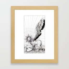 Tarot - The Sun Framed Art Print