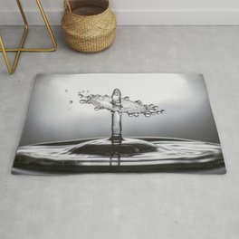 Water Drop collision Rug
