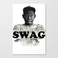 tyler the creator Canvas Prints featuring Tyler The Creator SWAG by Misadventures