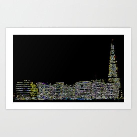 The Shard and London's South Bank Art Print