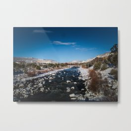 Chama River in Snow Metal Print