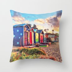 Aussie Beach Life Throw Pillow