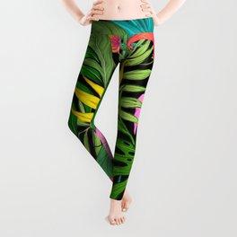 tropical flora Leggings