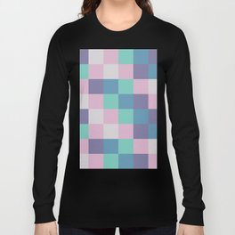 Abstract square pastel geometry Long Sleeve T-shirt
