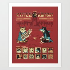 Mutant Kitteh Kombat Art Print