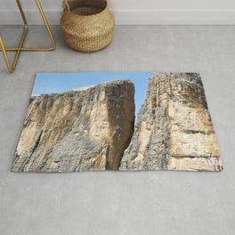 Spectacular Rockface Alps Dolomites Rug