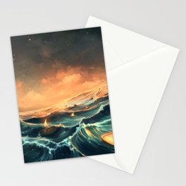 Refugees in a nutshell Stationery Cards