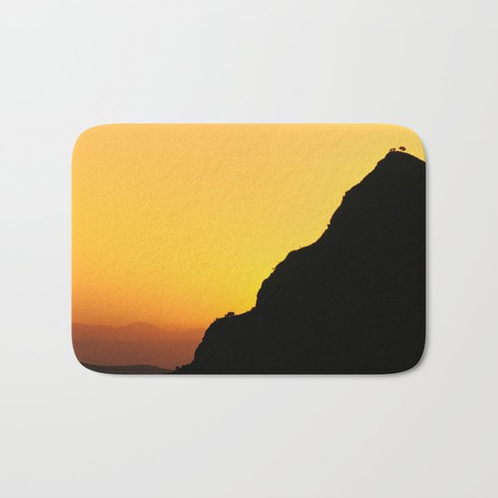 """""""Sunset at the mountains"""". Boca de la Pescá""""(1.512 meters). Bath Mat"""