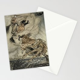 "Four Witches ""Up The Chimney"" by Arthur Rackam Stationery Cards"