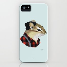 Chipmunk art print iPhone Case