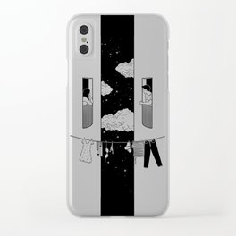 Thinking about you Clear iPhone Case