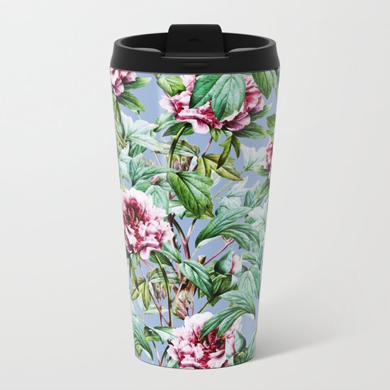 Frosty Florals #society6 #decor #buyart Metal Travel Mug