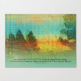 Serenity Prayer Colorful Trees Canvas Print