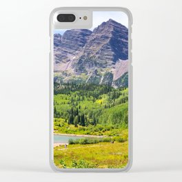 Maroon Bells Early September, Aspen Colorado Clear iPhone Case
