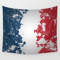 france Wall Tapestries featuring France by Flat Design