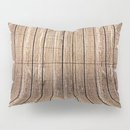 Realistic wood background Pillow Sham