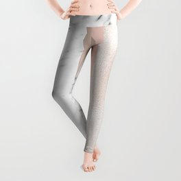 Cloudy marble on golden rose Leggings