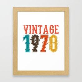 Vintage 1970 Birthday Gift Idea Framed Art Print