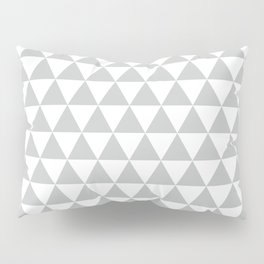 Light Grey Triangle Pattern Pillow Sham