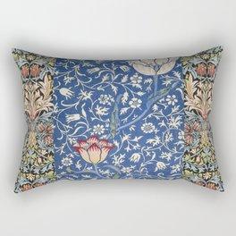 William Morris Victorian blue flowers Rectangular Pillow