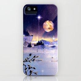 Moon Lake Scenery iPhone Case