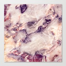 Pink marble texture effect Canvas Print