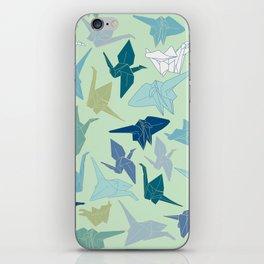 Paper Cranes- Green iPhone Skin