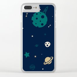 Astronauts & Aliens Clear iPhone Case